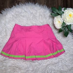 • Lilly Pulitzer Pleated Pink and Green Skort •
